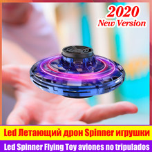 Flynova Spinner Toy Led Flying Fingertip Gyro Auto Rotate Drone Ufo Rolling Induction Anti Stress Quadcopter Valentines Day Gift(China)