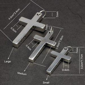 Image 5 - เงินแท้Silver 925 Sterling Silver Crossจี้สำหรับMenและWomenสูงขัดออกแบบพระเยซูเครื่องประดับ