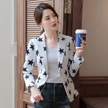 Small suit female long sleeves autumn new Korean version of Slim casual wild Office Lady  Single Breasted