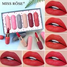 MISS ROSE 6 couleurs/ensemble rouge à lèvres mat longue durée hydratant nacré-Lustre rouge à lèvres maquillage lèvres cosmétiques TSLM1