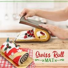 Cake Roller Baking Mat Flexible Soft Cake Stencils Roll Chocolate Rolls Mold Pizza Baking Pan Silicone Dough Roller Bakeware