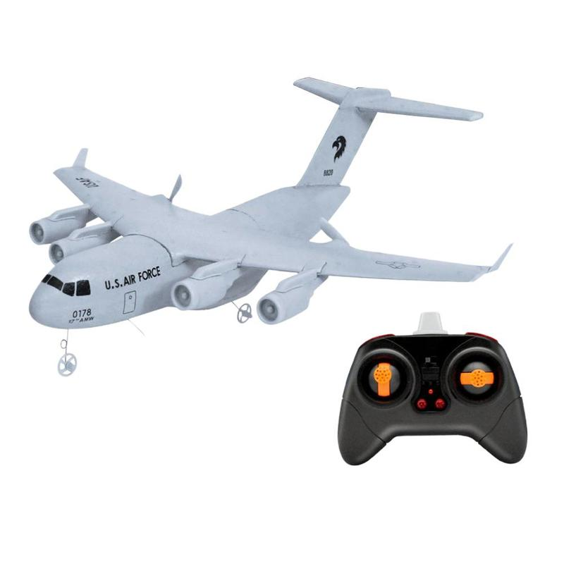 2.4GHZ RC Aircraft Toy Epp Foam Remote Control Airplane Model Toy For Kids And Adults Gift C17 Transport Remote Control Aircraft