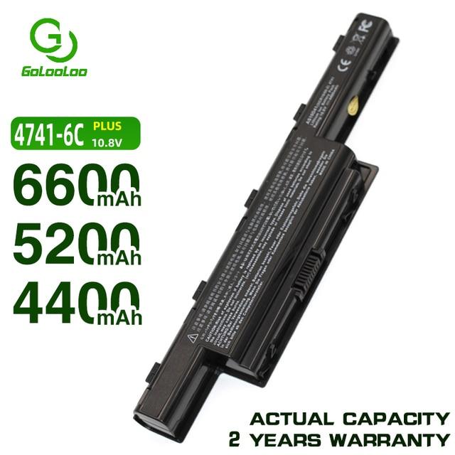 Golooloo 6600 5200mahノートパソコンのバッテリーacer aspire AS10D31 AS10D41 AS10D51 AS10D61 AS10D71 AS10D75 AS10D75 AS10D81 AS10G31 AS10D5E