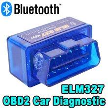 V2.1 obd2/obdii super mini elm327 bluetooth elm 327 versão 2.1 erro codificador android torque scanner de código de carro para multi-marcas