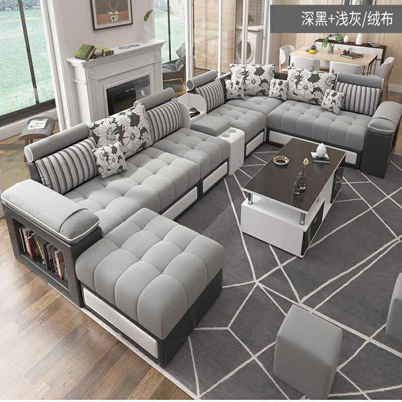 Hot Selling Modern Nordic Large And Small Family Living Room Simple Fabric Sofa Tea Table Tv Cabinet Combination Furniture Apart Aliexpress