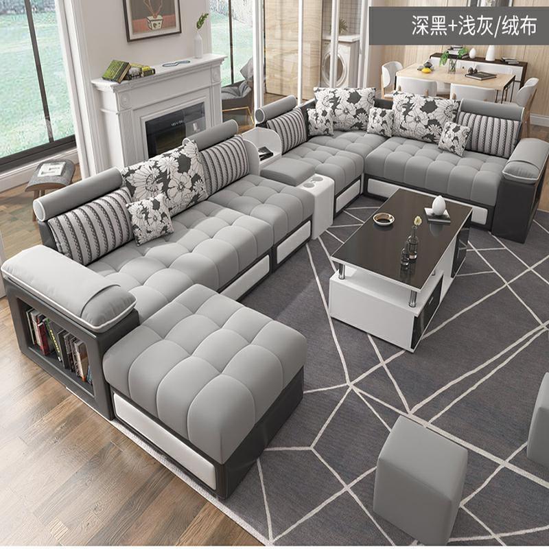 Gorący sprzedawanie nowoczesny skandynawski duży i mały rodzinny salon prosta tkanina Sofa stolik do herbaty szafka Tv połączenie mebli osobno
