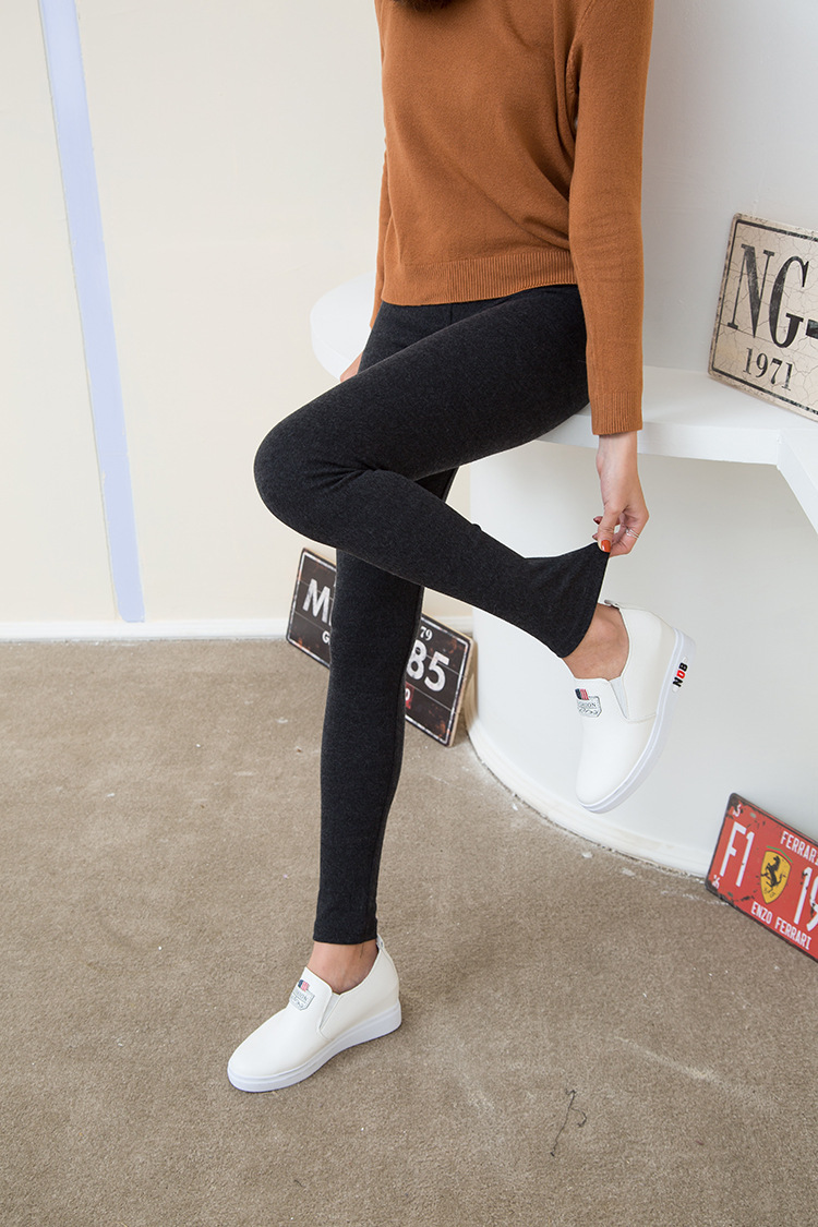 2019 Autumn And Winter New Warm Leggings Slim Warm Pants Women
