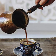 330ml Coffee aluminum Handle Cevze Turk Turkish Coffee Pot Copper Coffee Maker new недорого