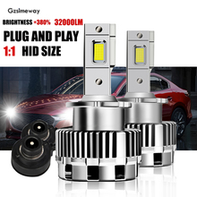 2PCS Car Lamp D1S D3S D5S D8S D4S D2S D2R D4R LED Canbus Error Free Bulb 70W 32000LM LED Headlight Conversion Kit to HID Ballast