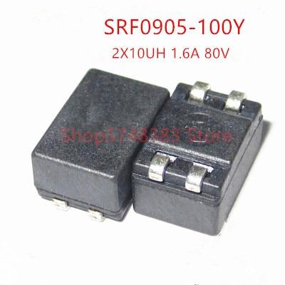 10PCS/LOT SRF0905-100Y 100Y CMC 10UH 1.6A 2LN 200 OHM SMD