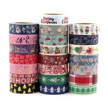 цены 1X japanese rice paper printing masking tape Merry Christmas tree washi tape