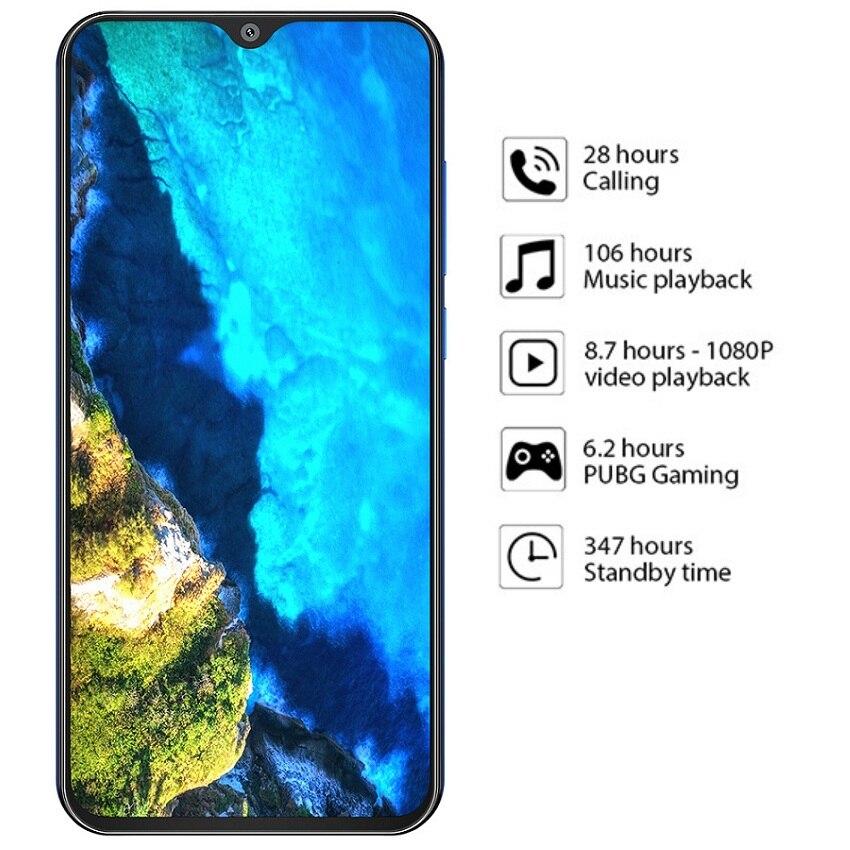 Cubot P30 смартфон 6,3 дюймов 2340x1080p 4 Гб + 64 ГБ Android 9,0 Pie Helio P23 AI задняя Тройная камера Face ID 4000 мАч сотовый телефон - 2