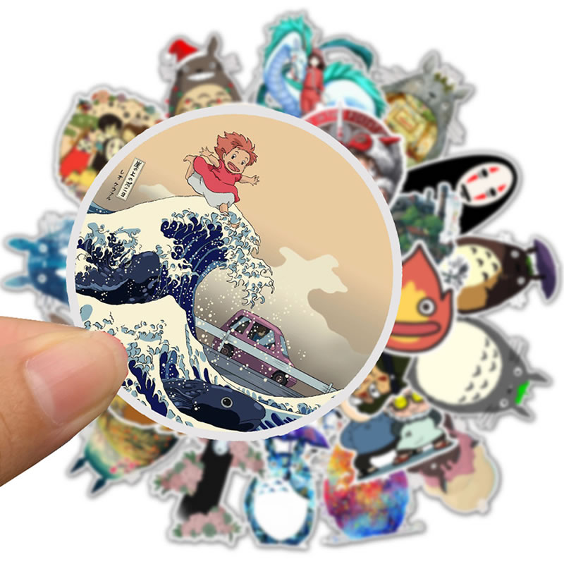 10/30/50pcs Waterproof Cartoon Totoro Spirited Away Girl Stickers Skateboard Suitcase Guitar Children Graffiti Sticker Kids Toy