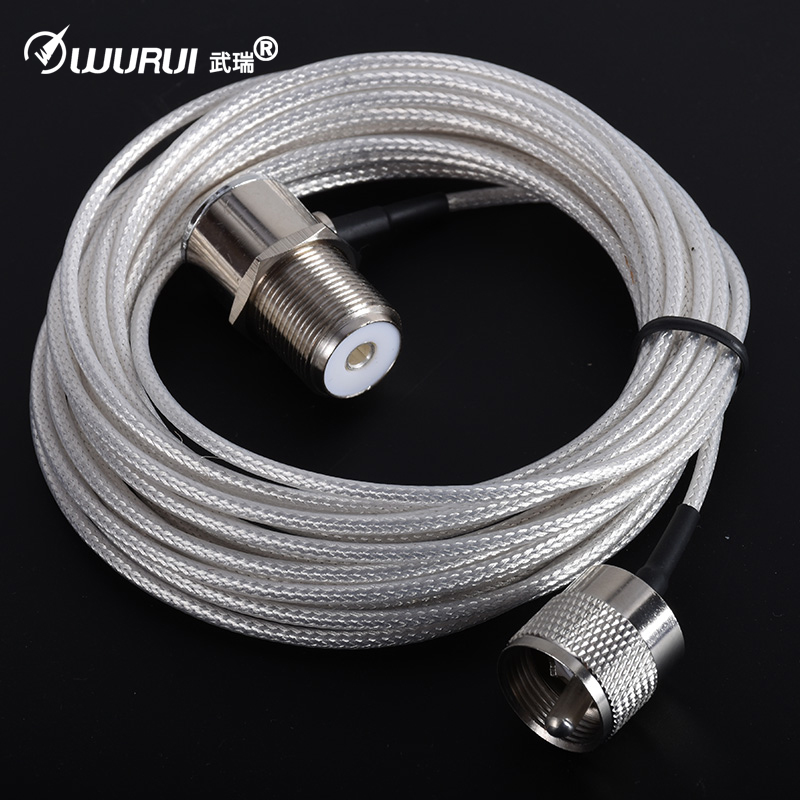 Teflon Antenna Cable 5m/16.4ft Low Loss Extension Coaxial Feeder Cable Connector PL259 For Baofeng TYT QYT KT7900D Mobile Radio
