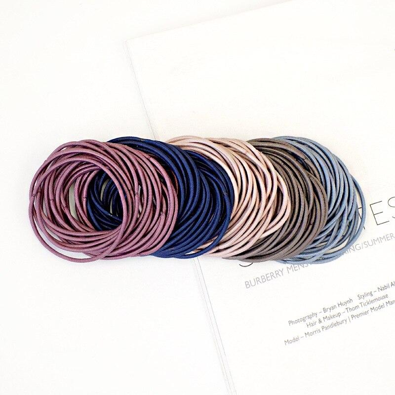 100 шт./упак. эластичные повязки на голову для девушек модные женские туфли резинка для волос резинки для волос аксессуары разноцветный