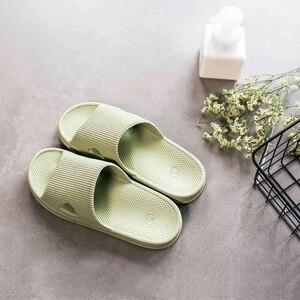 Image 2 - Eine Wolke Hause Hausschuhe Sommer Hausschuhe Weichen Flip Flops Damen Mann Sandalen Casual Schuhe Slip
