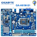 Материнская плата GIGABYTE GA-H61M-S1 H61 Socket LGA 1155 i3 i5 i7 DDR3 16G uATX UEFI BIOS оригинальная H61M-DS1 восстановленная материнская плата