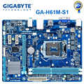 GIGABYTE GA-H61M-S1 H61 Desktop Motherboard uATX Soquete LGA 1155 i3 i5 i7 DDR3 16G UEFI BIOS H61M-DS1 Refurbish Originais Mainboard