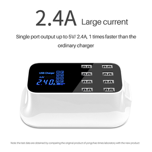 Image 3 - 8Port Digital LCD Display USB Charger For Android iPhone Adapter Tablet Mobile Phone 2.4A Fast Charger For xiaomi huawei samsung