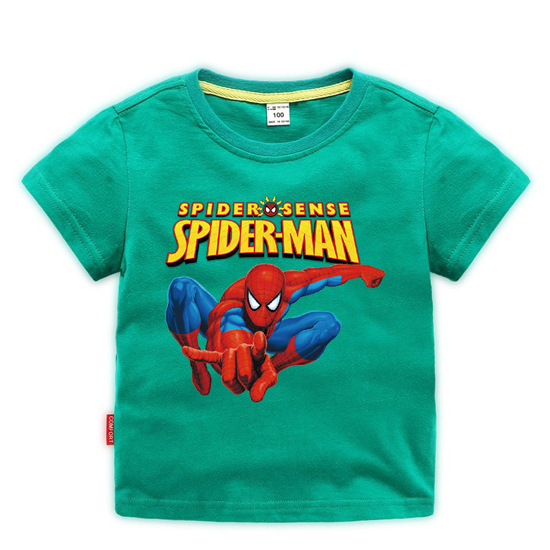 Disney Baby Spiderman T-shirt Childrens Boys Top Girls Cotton Clothing T-shirt Kids Cartoon Short Sleeve Tee Clothes Summer 2020 2
