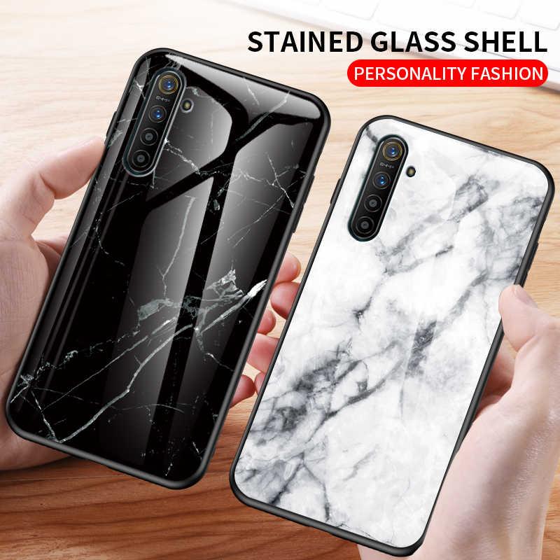 KEYSION الزجاج المقسى الحال بالنسبة ممن لهم Realme XT X2 X الرخام الزجاج للصدمات الهاتف الغطاء الخلفي ل Realme 5 5 برو 3 3 برو 2 1 C2 Q
