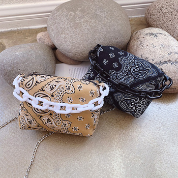 Fashion Printing Designer Canvas Crossbody Bags For Women 2020 Thick Chain Lady Shoulder Handbags Female Travel Cross Body Bag