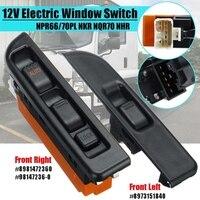 2Pcs Car Front Left & Right Side Electric Window Switch for ISUZU NPR66/70PL NKR NQR70 NHR RHD 8973151840 8981472360