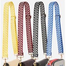 цена на New women's 3.8cm wide bag accessories wide shoulder belt single shoulder slant across color contrast wide bag belt adjustable b