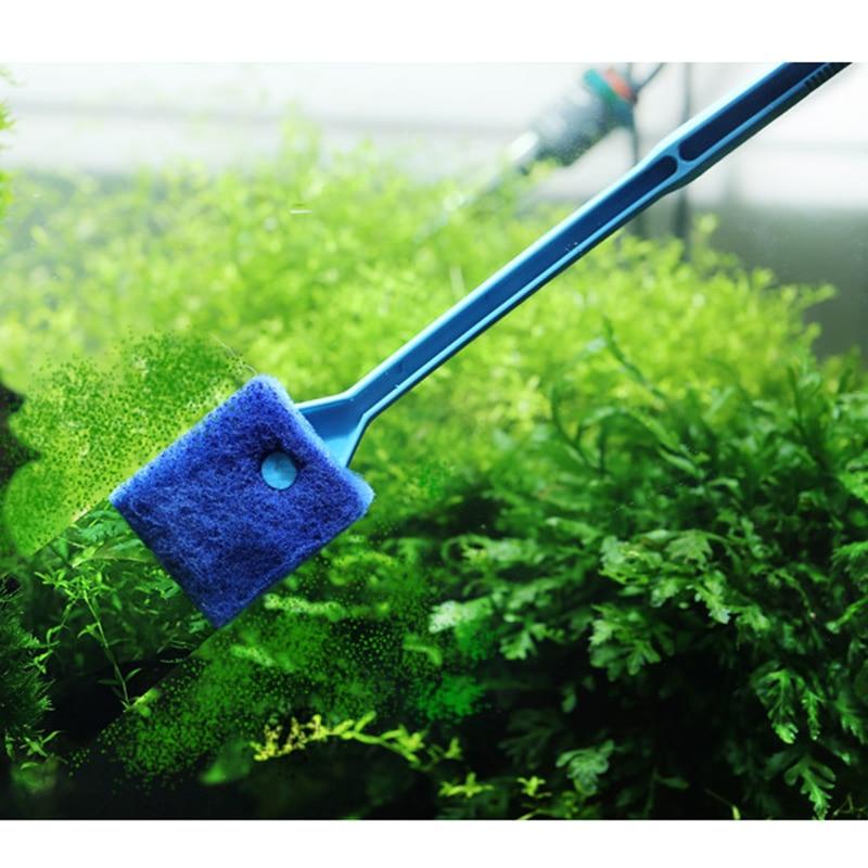 High Quality Aquarium Cleaner Supplies 40cm Plastic And Sponge Aquarium Cleaning Brush Aquarium Fish Tank Clean Brushes