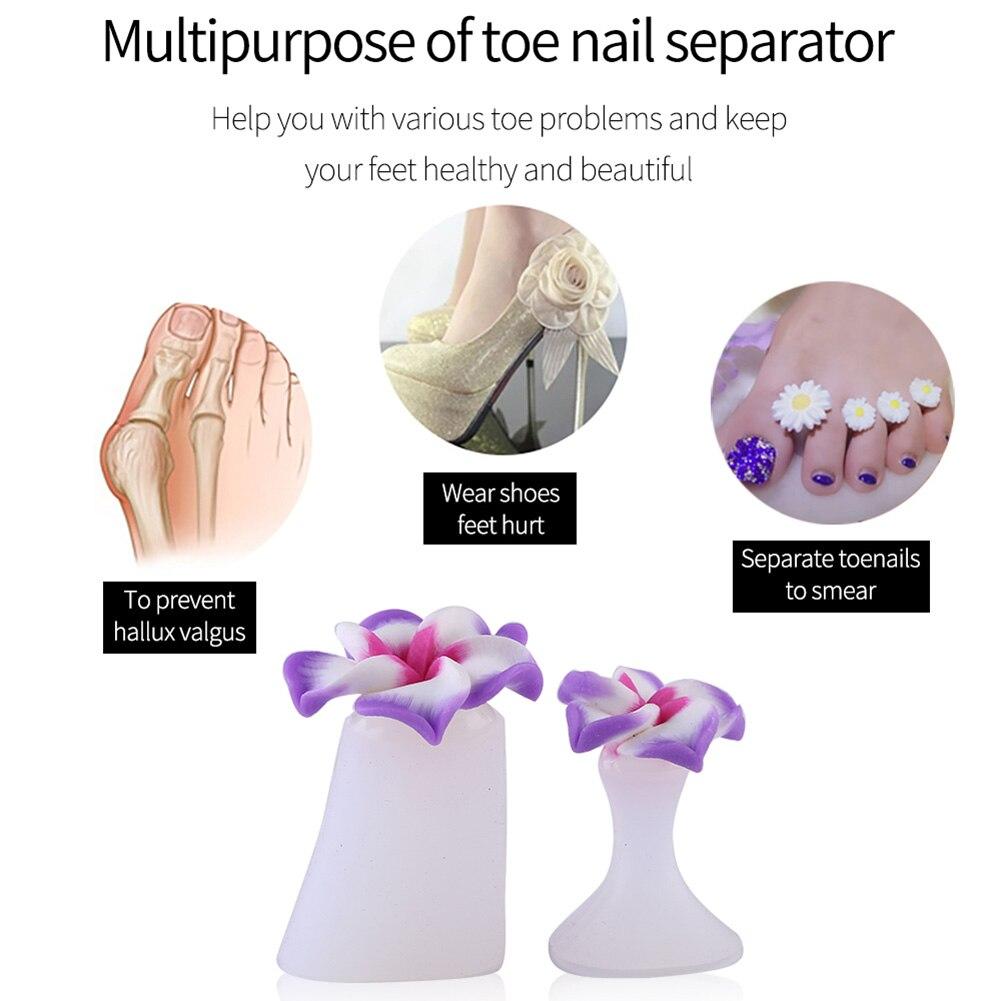 Best Toe Silicone Separator Nail Art DIY Tool Pedicure Flower Waterdrop Crystal Diamond Pearl Separator Foot Care Tools