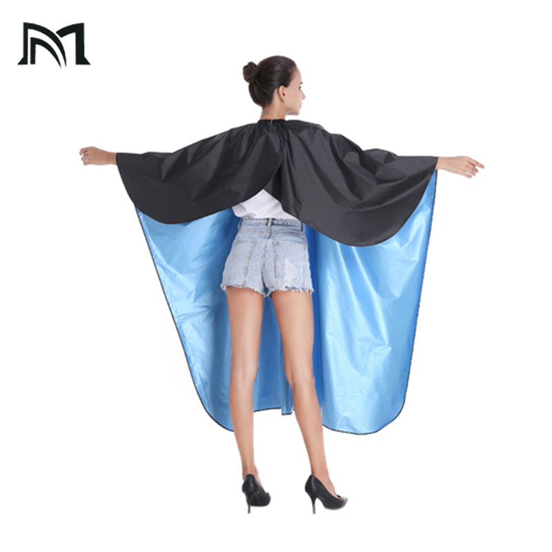 140 160CM Hairdresser Capes Salon Barber Cutting Hair Waterproof and hair dyeing Wrap Hairdresser Hair Dresser Wrap D16 in Caps Foils Wraps from Beauty Health