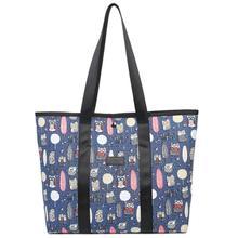 купить Women Shoulder Bag Corduroy Female Casual Tote Shoulder Bag Lady Daily Use Printed Handbag Large Capacity Reusable Shopping Bags дешево