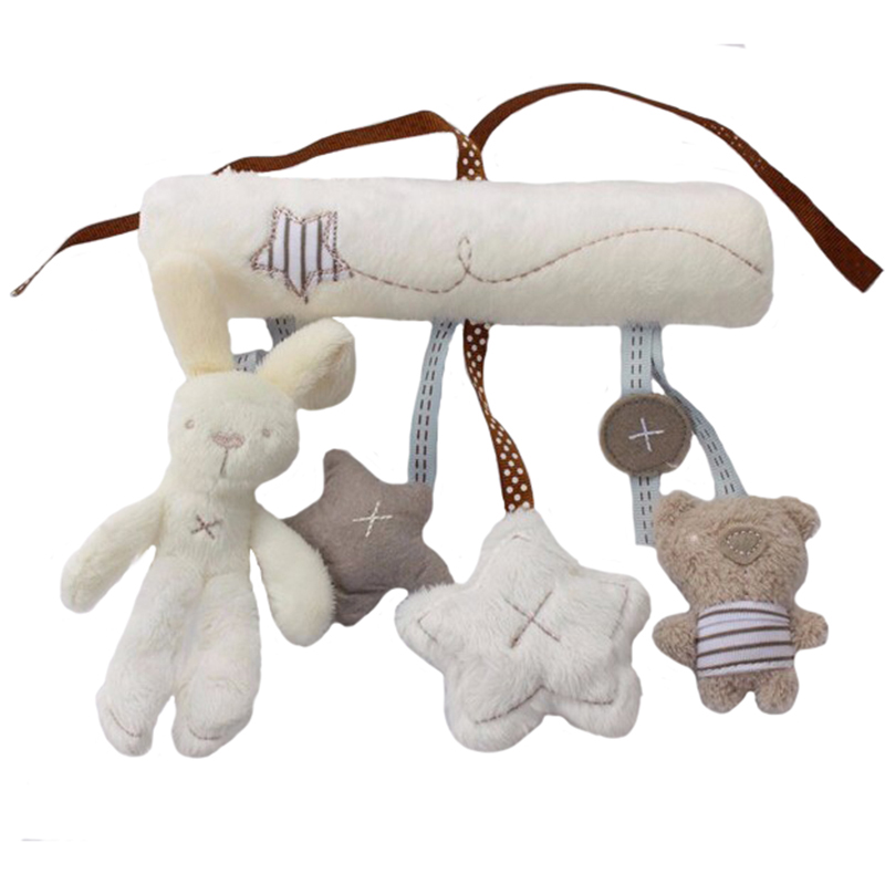 Toys & Hobbies ...  ... 32212764152 ... 4 ... Rabbit baby hanging bed safety seat plush toy Hand Bell Multifunctional Plush Toy Stroller Mobile Gifts WJ141 ...