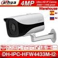 Dahua IPC-HFW4433M-I2 Оригинал 4MP Пуля IP камера сети ONVIF POE IP67 H.265 80 м ИК starlight видения