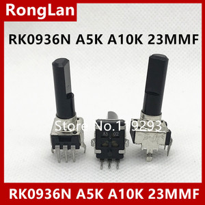 Переключатель звукового потенциометра 09 типа RK0936N B5K B1K B2K B10K B20K B50K B100K A5K A10K A20K C5K C10K C20K Dshatf 23MMF-10P