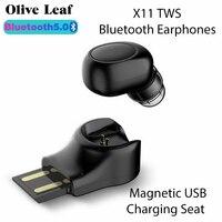 X11 TWS Wireless Headset Bluetooth Kopfhörer Sport Ohrhörer Lärm Reduktion Musik Kopfhörer Surround Für Xiaomi Huawei Iphone