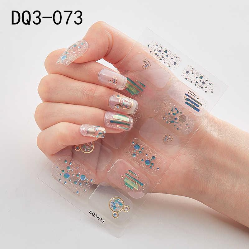 1 Vel Shiny Nail Art Sticker Polish Sliders Manicure 2020 Nieuwe Laser Ontwerpen Tattoo Voor Nail Wraps Faux Ongles Nagel decoraties