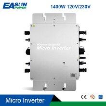 1400W IP65 şebeke bağlantı invertörü mikrobilgisayar MPPT saf sinüs dalgası güneş mikro güneş dönüştürücü regülatörü 20-50VDC 110V/220VA