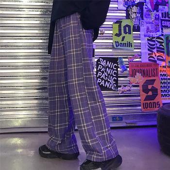 Purple Plaid trousers  4