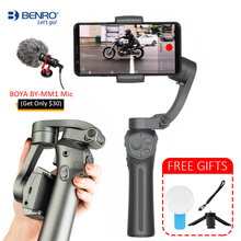 BENRO P1 3 osi Gimbal Smartphone ręczny stabilizator dla iPhone Gopro hero 6 7 Huawei XiaoMi Pk Snoppa Atom DJI Osmo mobile 3