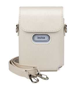 Image 3 - For Fujifilm Instax Mini Link Printer Case Bag PU Leather Storage Blue Pink White Strap Carry Cover Shoulder Bags