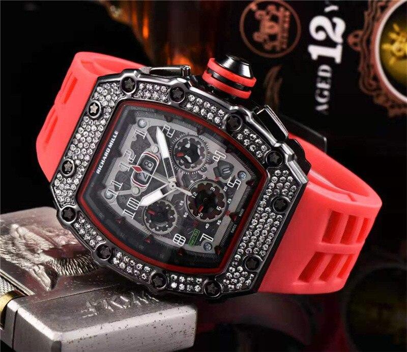 Cadeau diamant DZ digite homme montre Rlo dz Auto Date semaine affichage lumineux plongeur montres acier inoxydable poignet homme mâle horloge - 4