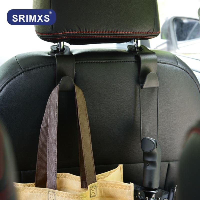 多機能カーシートバックフックハンガーヘッドレストマウントフック収納カー袋自動コートハンガー 1pc