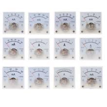 91c4 amperímetro dc medidor de corrente analógica painel mecânico ponteiro tipo 1/2/3/5/10/20/30/50/100/200/300/500ma a 62kc