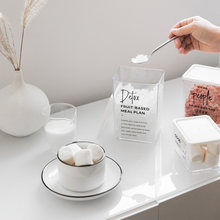 Пластиковая коробка для хранения зерен банка чая кофейных закусок