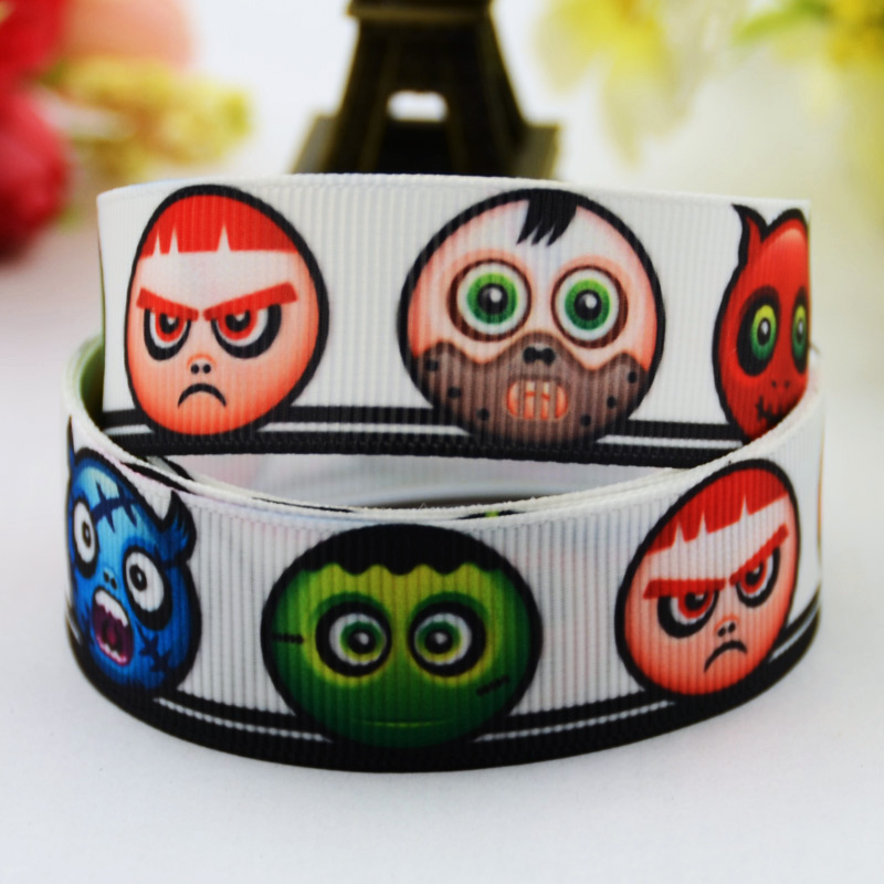 <font><b>7/8</b></font>'' (22mm) <font><b>Halloween</b></font> Cartoon Character printed <font><b>Grosgrain</b></font> <font><b>Ribbon</b></font> party decoration satin <font><b>ribbons</b></font> X-00476 10 Yards image