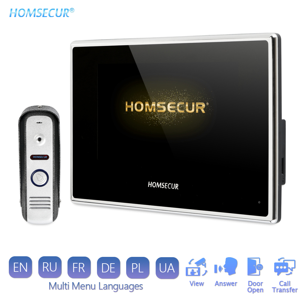 """HOMSECUR 7"""" AHD Video Door Phone Intercom System with 1.3MP Camera Motion Detection Record BC021HD-S+BM718HD-B"""