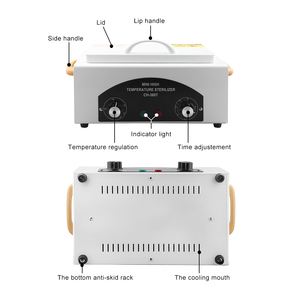 Image 3 - Hoge Temperatuur Sterilisator Nail Art Nagels Sterilisator Nail Gereedschap Manicure Machine Uv Desinfectie Sterilisator Box Sterilisator Tool