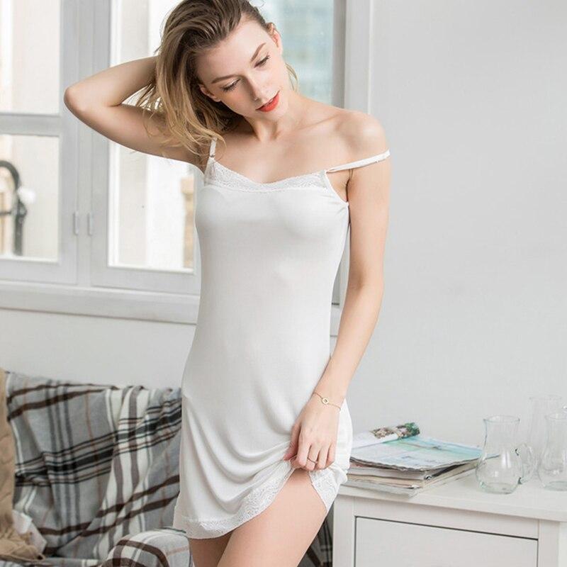 Женские комбинации из 100% натурального шелка, белые комбинации под платье, антискользящее нижнее платье, Повседневная комбинация, сорочка, Н...