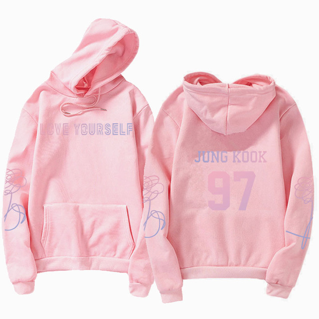 jungkook Unisex hoody kpop suga93 hoodies love KPOP weatshirt love yourself KPOP hoody sweatshirt  harajuku hoodies 1